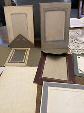 Vintage Lot of 19 Art Deco Era Cardboard Picture Frames - Various Sizes