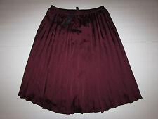 NEW w/Tag-Women's Worthington Maroon Berry Pleated Dress Skirt Sz 6