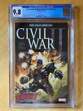 Civil War II Free Comic Book Day #1 2016 Comic CGC 9.8 Two 1st appearances