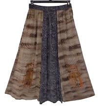 KUSNADI OS Long A-line Skirt Batik Rayon Printed