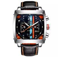 Paulareis Mechanical Auto Movement Monaco Watch - Stainless Steel