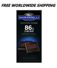 Ghirardelli Intense Dark 86% Cacao Chocolate 3.17 Oz FREE WORLDWIDE SHIPPING