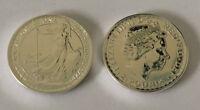 2013 Great Britain 1 oz Silver Brittania 2 GBP Coin BU, 1 oz of .999 Fine Silver