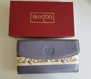 Vintage Never sed Buxton Checkbook Leather Wallet Clutch with Calculator
