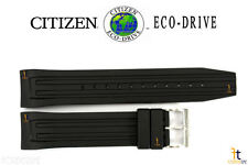Citizen Eco-Drive AT0786-07E Black Rubber Watch Band Strap BM6530-04F AT0785-00E