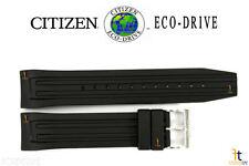 Citizen Eco-Drive AT0786-07E Black Rubber Watch Band Strap BM6530-04F AT0785-00E