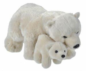 NEW PLUSH WILD REPUBLIC MOTHER & BABY POLAR BEAR & CUB CUDDLY SOFT TOY TEDDY