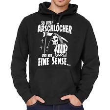 So viele Arschlöcher und nur eine Sense Sprüche Spruch Spaß Sweatshirt Hoodie