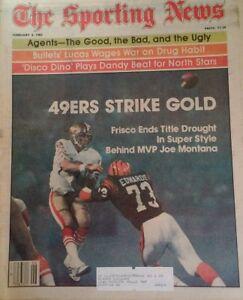 1982 Sporting News Joe Montana 49ers Bird Bo Valvano Dino Dr J RARE Ads