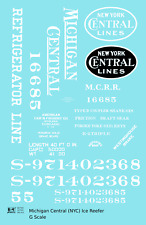 K4 G 1:24 Decals Michigan Central Wood Ice Reefer White New York Central