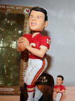 New Kansas Chiefs Len Dawson Super Bowl MVP bobblehead + bonus Mini bobblehead