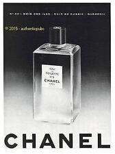 PUBLICITE EAU DE TOILETTE N°5 CHANEL N°22 BOIS DES ILES CUIR DE RUSSIE 1956 AD
