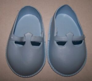 """NEW OLD STOCK - 1950's CINDERELLA BLUE DEBUTANTE SHOES SIZE 3 - 21"""" - 22"""" PED"""