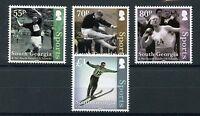 South Georgia & S Sandwich Islands 2016 Sports 4v Set Ski Jump Athletics Stamps
