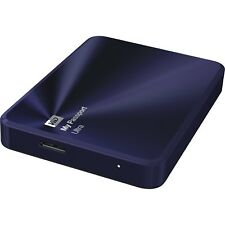 WD My Passport Ultra Metal 1 TB Disco Duro Externo Portátil USB 3.0 PC MAC AZUL