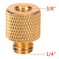 "A Screw 3/8"" Female to 1/4"" Male Thread Adapter Camera Tripod Head Reducer Brass"