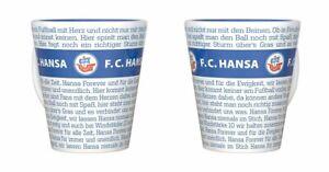 F.C Kaffeetasse Pr/ägung Becher Pott Plus Lesezeichen Wir lieben Fu/ßball Hansa Rostock Tasse Relief