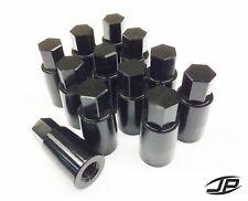 GO KART RACING SHIFTER BILLET ALUMINUM M8 WHEEL LUG NUTS BLACK ANODIZED 12PCS