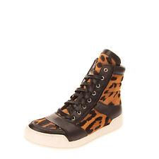 RRP€800 BALMAIN Leather & Calf Hair Sneakers LEFT SHOE ONLY EU43 UK9 US10 Jaguar