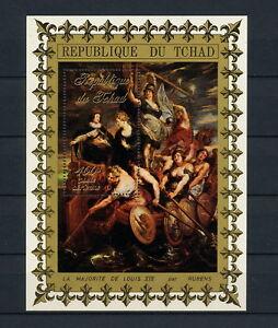 (SBAA 240) Chad 1972 MNH Peter Paul Rubens art paintings