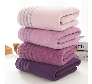 1 PCS PURPLE TOWEL BALE SET 100% COMBED COTTON SOFT FACE HAND BATH BATHROOM TOWE