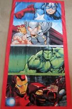 "Avengers Infinity War Captain America Marvel Bath Shower Towel 28"" x 58"" NEW"