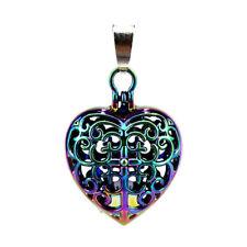 5pcs/lot Rainbow Color Magnet Heart Cross Locket Pendant Pearl Cage -C787