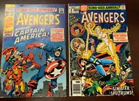 The Avengers King Size Special #3 Marvel 1969 & King Size Special #8 1978