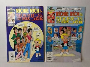NKOTB Richie Rich New Kids On The Block Comic Books Lot of 2 Rare First Issue