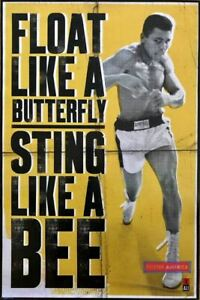 Muhammad Ali Float Like A Butterfly Quote Vintage Poster 24 X 36  Sting like a b
