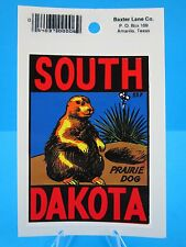 "Vintage.""South Dakota State Prairie Dog"" Sticker / Decal (Great Price !)"