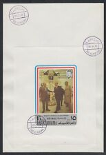 1972 Ras al Khaima FDC Visit of Pompidou Cape Kennedy Space M/S white [brd729]