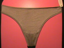 Victoria's Secret INCREDIBLE thong S nylon panty taupe gray lingerie tagless NWT