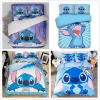 3D Customize Cartoon Stitch Kids Bedding Set Duvet/Quilt/Doona Cover Pillowcase