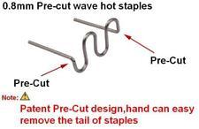 100PZ Graffette ondulate per paraurti fari saldatura plastica auto 0,8mm