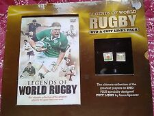 MARKS & SPENCER LEGENDS OF WORLD RUGBY DVD AND CUFF LINKS PACK NEW