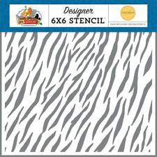 Crafts CB 6X6 Plastic Stencil Zoo Adventure Zebra Stripes