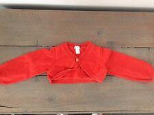 Gilet court orange manches longues OBAÏBI 12 mois / 74 cm