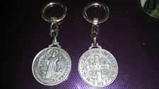 St Benedict large keyring Catholic Vatican City charm medal