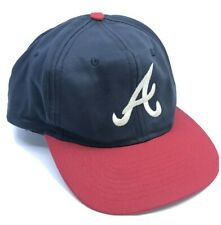 VINTAGE 90's Atlanta Braves Snapback One Size Fits All Hat Cap MLB Authentic Hat