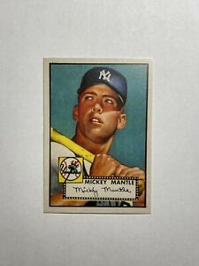 Mickey Mantle Reprint Rookie Card