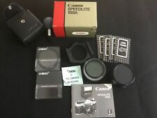 Canon Speedlite 188A Shoe Mount Flash Canon Ae1 with accessories 2x converter