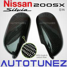 Carbon Fiber Side Mirror Cover For Nissan 200SX Silvia S14 Nismo Car Autotunez