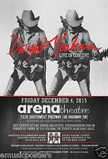 DWIGHT YOAKAM 2015 HOUSTON CONCERT TOUR POSTER - Playing Guitar Double Image