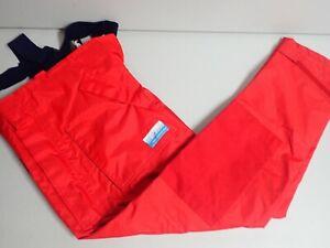 High Seas Foul Weather Gear Rubber Red Pants Bibs Boating Gear S Unisex