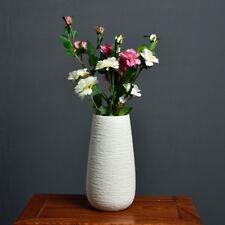 White Ceramic Flower Vase Crafts Home decor wending Gift Modern Simple
