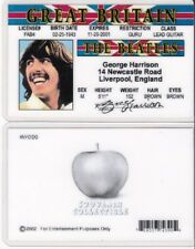 Great Britain Drivers License card Liverpool England the Beatles George Harrison