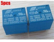 5Pcs SRD-3VDC-SL-C Mini 3V Dc Pcb Type Songle Power Relay New Ic ho