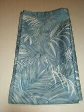 Caribbean Joe Shower Curtain Ferns Island Tropical Jungle Coastal Blue Silver