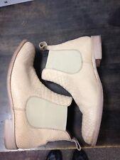 Pertini Stiefelette Damen Chelsea Boot Reptil Look Beige Creme 40 40,5 41